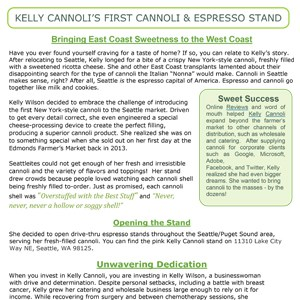 Pitch for Kelly Cannoli